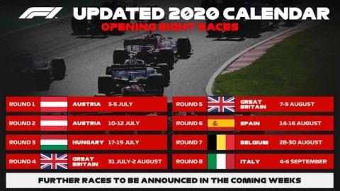 Formula 1: Στις 5 Ιουλίου ο πρώτος αγώνας στην Αυστρία