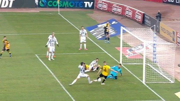 ΑΕΚ - Απόλλων Σμύρνης: Ο Σιμάνσκι με το πρώτο του γκολ στη σεζόν το 1-0
