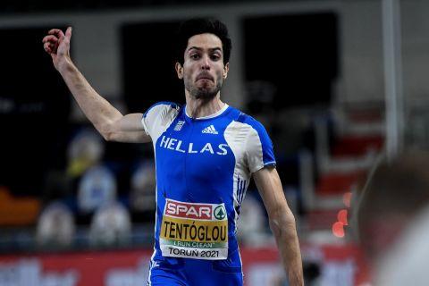 Ο Μίλτος Τέντογλου σε προσπάθειά του στο Ευρωπαϊκό Πρωτάθλημα Στίβου 2021