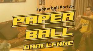 """Κορονοϊός: Ο Άρης σύστησε το paper ball challenge για το """"Μένουμε σπιτι"""""""
