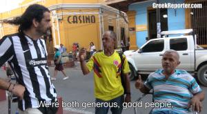 Ένας ΠΑΟΚτζής και ένας Αρειανός γνώρισαν το σουβλάκι στην Κολομβία