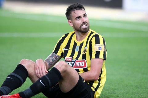 Ο Νταμιάν Λε Ταλέκ στην αναμέτρηση της ΑΕΚ απέναντι στον Ιωνικό για την 1η αγωνιστική της Super League Interwetten.