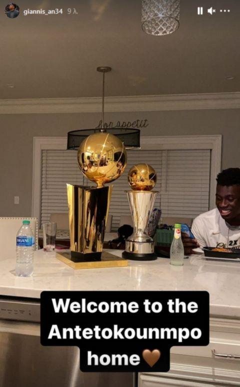 NBA Finals: Ο Γιάννης Αντετοκούνμπο πήρε τα δύο τρόπαια στο σπίτι του