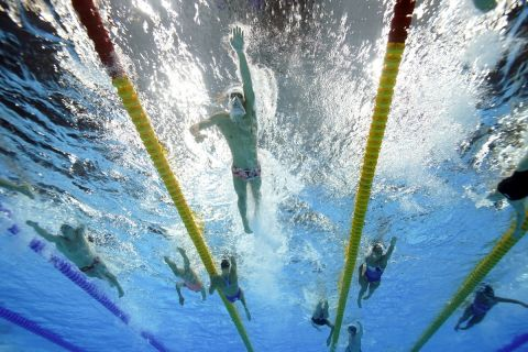 Προπόνηση κολυμβητών στους Ολυμπιακούς Αγώνες του Τόκιο 2020