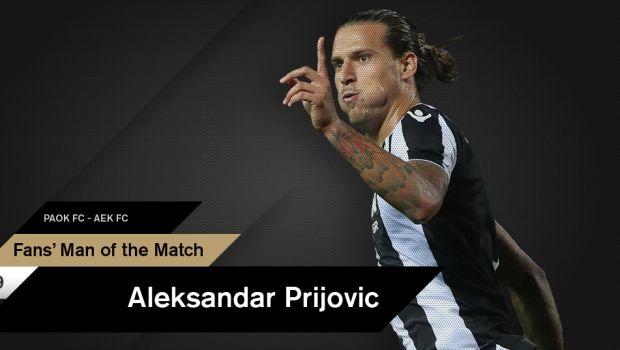 Ο Πρίγιοβιτς Fans' Man of the Match
