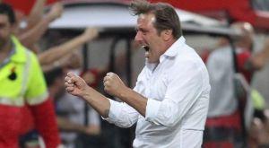 Ολυμπιακός – Κράσνονταρ: Ο έξαλλος πανηγυρισμός του Μαρτίνς στο γκολ του Γκερέρο