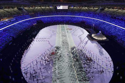 Η παρέλαση στην τελετή έναρξης των Ολυμπιακών Αγώνων