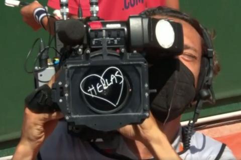Το μήνυμα της Σάκκαρη στην κάμερα φανέρωσε την αγάπη της για την Ελλάδα