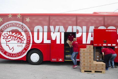 Ο Ολυμπιακός έστειλε ανθρωπιστική βοήθεια στην Έυβοια | 6 Αυγούστου 2021