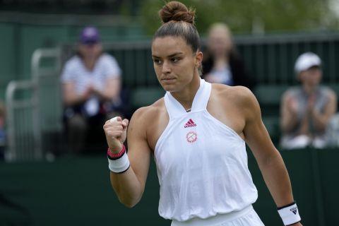 Η Μαρία Σάκκαρη στο Wimbledon