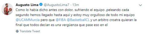 """Λίμα: """"Παρακαλώ, μην κάνετε μαφία το μπάσκετ"""""""