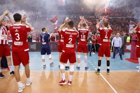 2018 CEV VOLLEYBALL CHALLENGE CUP / ÔÅËÉÊÏÓ / ÏÓÖÐ - ÑÁÂÅÍÍÁ (ÖÙÔÏÃÑÁÖÉÁ: LATO KLODIAN / EUROKINISSI)