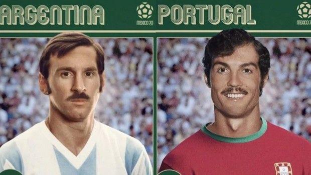 Μέσι και Ρονάλντο ταξίδεψαν στο χρόνο και έβγαλαν μουστάκι