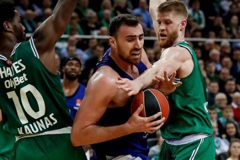 Ζάλγκιρις Κάουνας - Ολυμπιακός 94-69: Παράδοση άνευ όρων