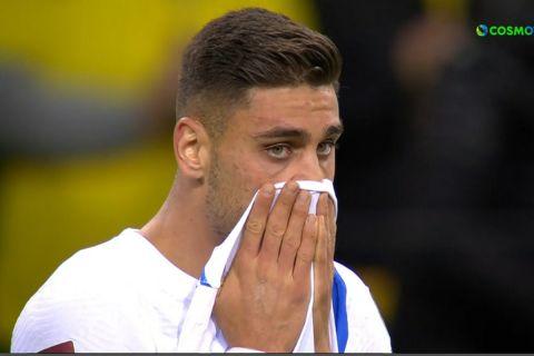 Εθνική Ελλάδας: Ο Μαυροπάνος δάκρυσε μετά τη λήξη του αγώνα με την Σουηδία