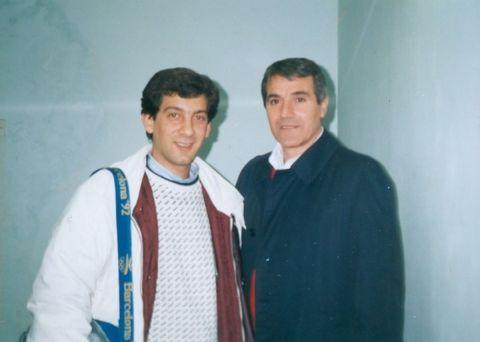 Ο Βασίλης Σκουντής με τον προπονητή Γιόζιπ Τζέρτζια