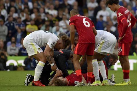 H στιγμή του τραυματισμού του Έλιοτ στο Λιντς - Λίβερπουλ