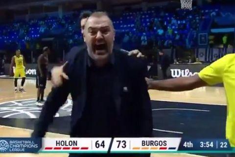 Χάποελ Χολόν - Μπούργος: Αποβλήθηκε στο 36' ο Στέφανος Δέδας