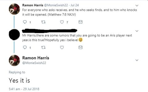 Ο Ραμόν Χάρις επιβεβαίωσε στο twitter ότι συμφώνησε με τον Άρη