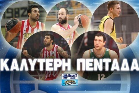 Η καλύτερη πεντάδα της Basket League