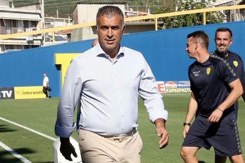 Ο Γιάννης Αναστασίου στη διάρκεια του αγώνα Παναιτωλικός - ΑΕΚ   3 Οκτωβρίου 2021