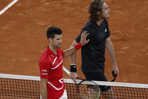 Ο Τζόκοβιτς απέναντι στον Τσιτσιπά μετά απ' τα ημιτελικά του Roland Garros