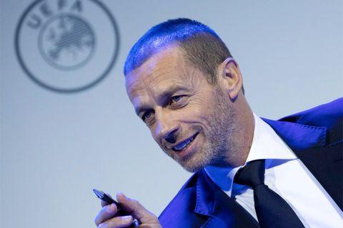 """Ο πρόεδρος της UEFA, Αλεξάντερ Τσέφεριν. Ο Πέρεθ υποψιάζεται πιθανό """"δάκτυλο"""" της UEFA πίσω από τη δημοσίευση των ηχητικών, ως εκδίκηση της ευρωπαϊκής ομοσπονδίας για την ευρωπαϊκή Σούπερ Λίγκα."""