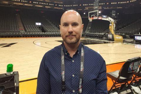 Ο απεσταλμένος του SPORT24 στους NBA FINALS, Χάρης Σταύρου