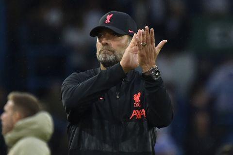 Ο Γιούργκεν Κλοπ κατά τη διάρκεια του αγώνα της Λίβερπουλ στο Έλαντ Ρόουντ με την Λιντς για την Premier League | 12 Σεπτεμβρίου 2021