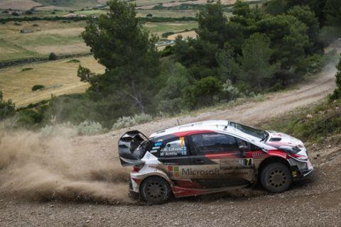 Jari-Matti Latvala (FIN) performs during FIA World Rally Championship 2018 in Alghero, Italy on 08.06.2018