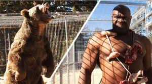 Είναι τρελοί: Βάζουν τον Bob Sapp να παίξει με αρκούδα