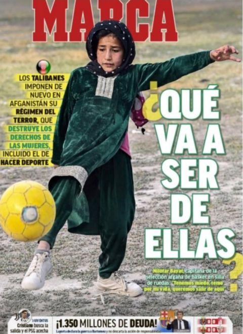 Το συγκλονιστικό πρωτοσέλιδο της Marca για το Αφγανιστάν