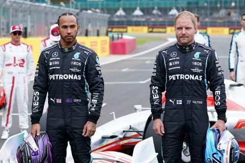 Οι Λούις Χάμιλτον και Βάλτερι Μπότας από το γκραν πρι στο Silverstone   15 Ιουλίου 2021
