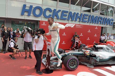 Ο Χάμιλτον στο GP της Γερμανίας το 2018