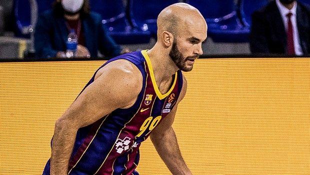 Ο Καλάθης σε στιγμιότυπο από εντός έδρας αγώνα της Μπαρτσελόνα για την EuroLeague