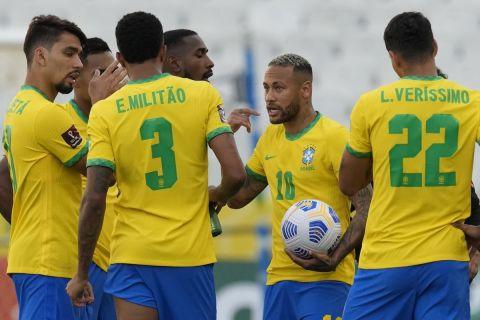 Ο Νεϊμάρ σε αγώνα της εθνικής Βραζιλίας