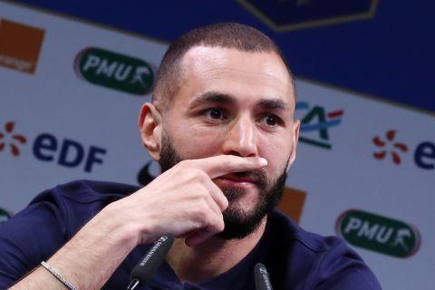 Ο Καρίμ Μπενζεμά δίνει συνέντευξη ως παίκτης της εθνικής Γαλλίας (30 Μαΐου 2021)