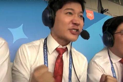 """Οι Νοτιοκορεάτες εκφωνητές """"ξέφυγαν"""" στην περιγραφή (VIDEO)"""