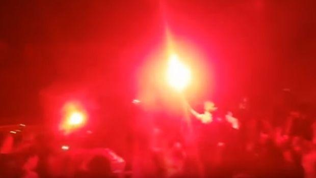 Χαμός στο Ζάγκρεμπ για την πρόκριση της Κροατίας (VIDEOS)