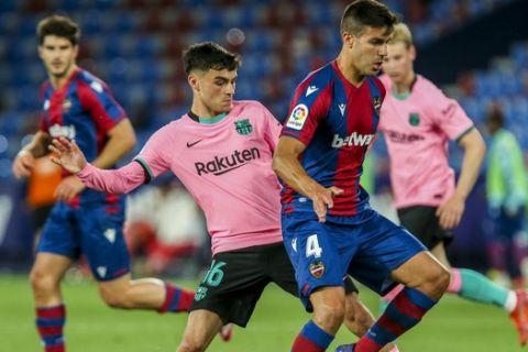 Από την αναμέτρηση της Λεβάντε με την Μπαρτσελόνα για την 36η αγωνιστική της La Liga