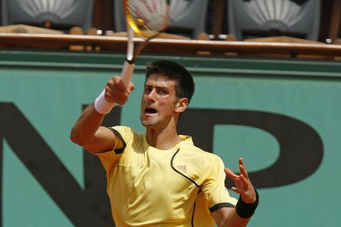 Ο Νόβακ Τζόκοβιτς στο Roland Garros του 2007