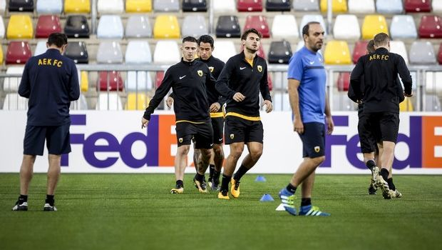 Είδαν Εθνική οι παίκτες της ΑΕΚ πριν την προπόνηση