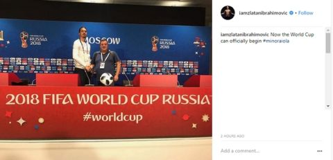 Ο Ιμπραχίμοβιτς έδωσε άδεια να ξεκινήσει το Παγκόσμιο Κύπελλο