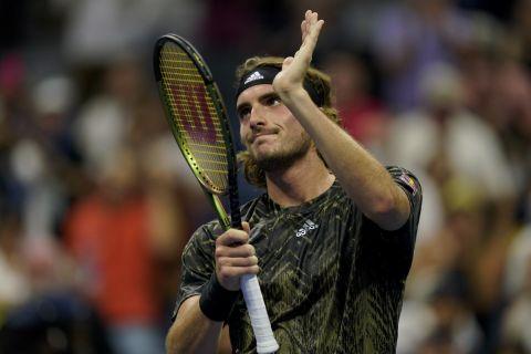 Ο Στέφανος Τσιτσιπάς στην αναμέτρηση με τον Άντι Μάρεϊ στο US Open