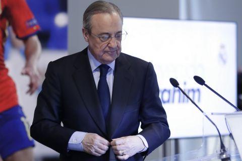 Ο πρόεδρος της Ρεάλ Μαδρίτης, Φλορεντίνο Πέρεθ
