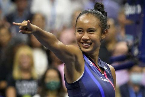 Η Λέιλα Φερνάντεζ στον ημιτελικό του US Open