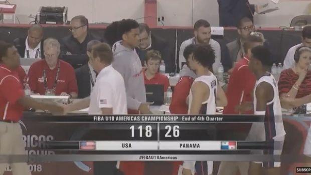 Οι ΗΠΑ διέλυσαν με 118-26 τον Παναμά στο FIBA Americas U18!