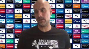Μάντσεστερ Σίτι: Το ξεχωριστό μπλουζάκι του Γκουαρδιόλα κατά του φασισμού