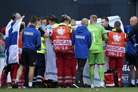 Ο Έρικσεν κατάρρευσε στο Δανία - Φινλανδία για το Euro 2020
