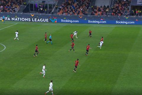 Ο Εμπαπέ σκοράρει στο παιχνίδι της Γαλλίας με την Ισπανία για τον τελικό του Nations League.